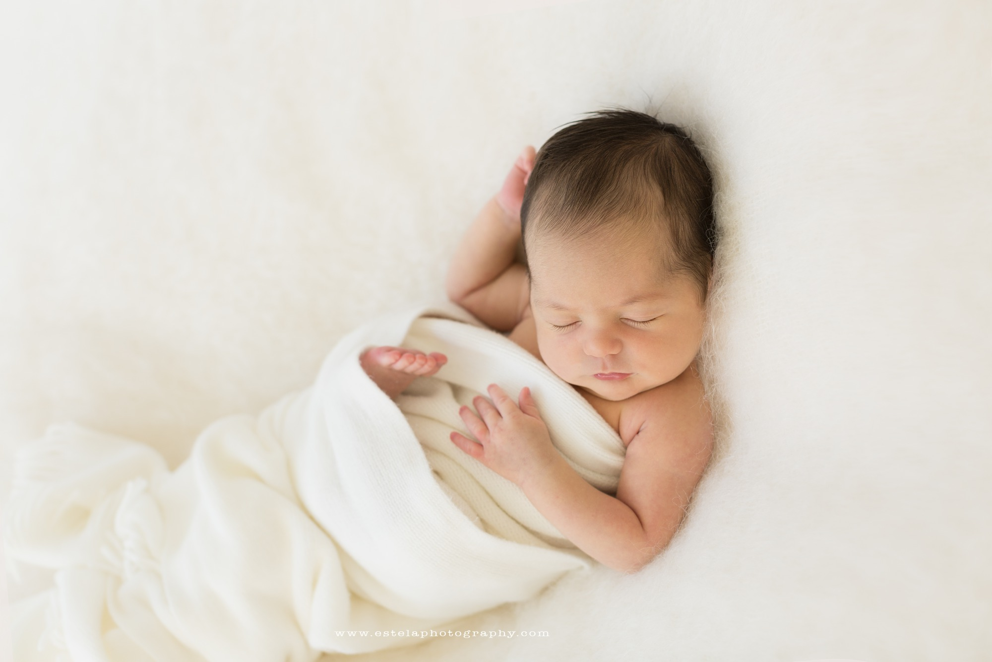 A baby sleeps captured by estela giargei photography a houston baby photographer