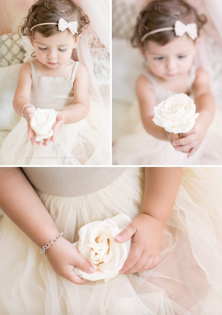 Baby Holding a Flower Photography