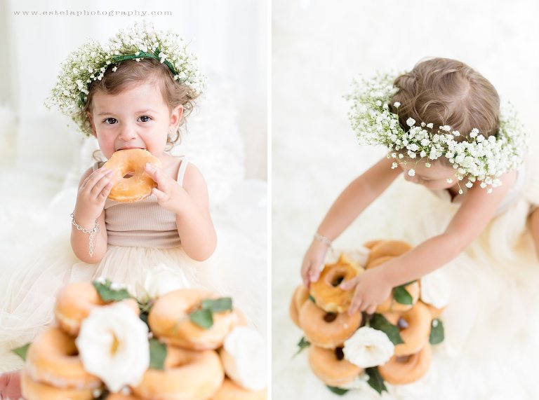 Beautiful and Delicate Cake Smash for Baby Girl