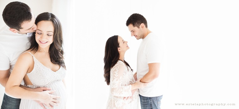 Mom and Husband on a Beautiful Maternity Session
