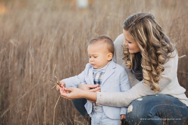 Mom and Baby Boy Outdoor Session