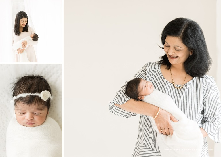 Photos of Newborn with Grandma and Mom