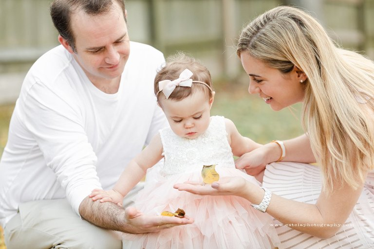 Mom and Dad and Daughter Outdoor Family Session