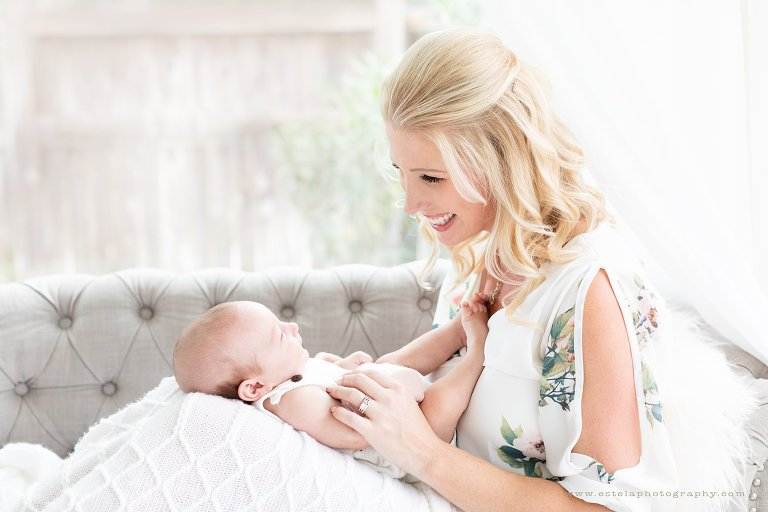 Mother and Baby Boy Photography in Studio in Houston