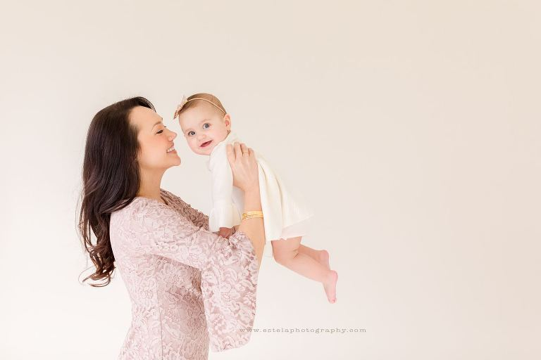 Baby and Mother in Houston Photography Studio