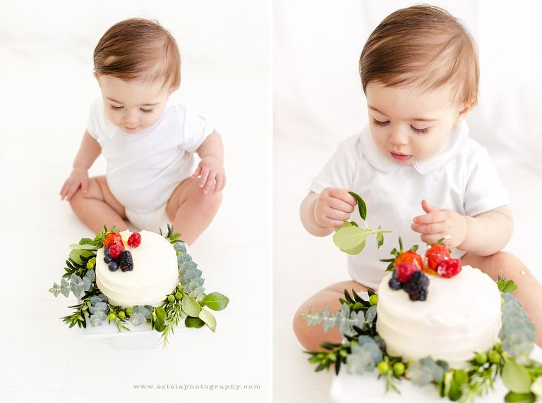 Baby Boy Cake Smash Mini Photography Session