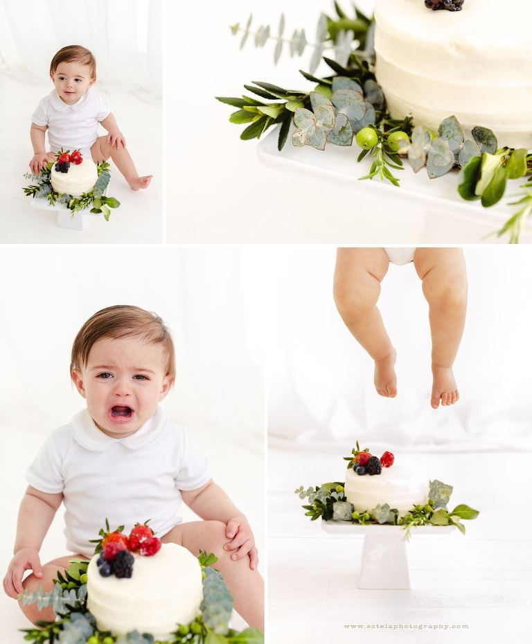 Baby Crying During Photography Cake Smash Mini Session