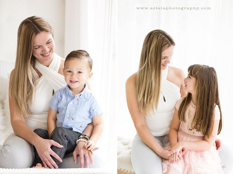Mother and Daughter and Son in Houston Photography Studio