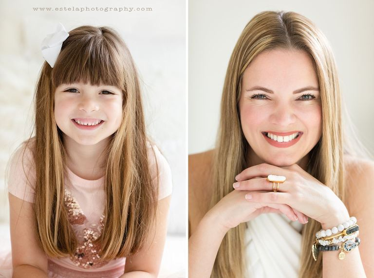 Mother and Daughter Comparison Photography