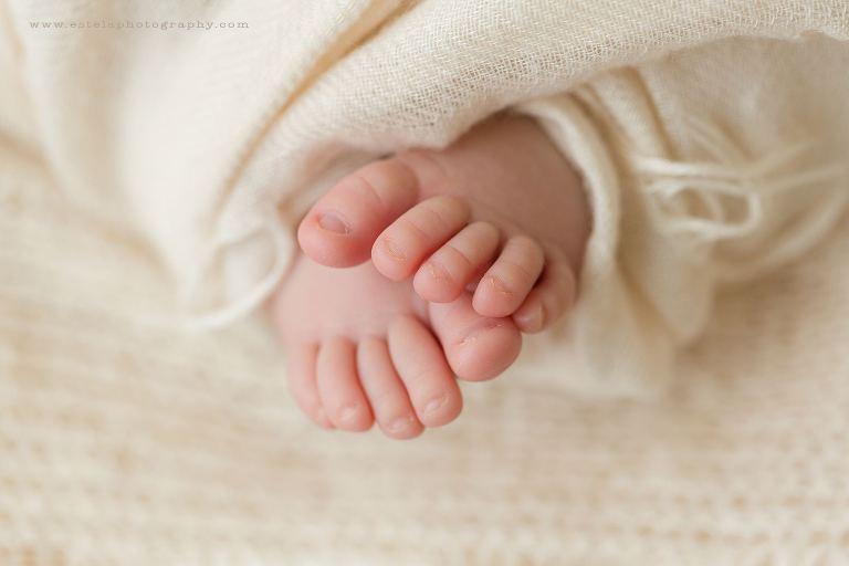 Newborn Toes Macro Photo