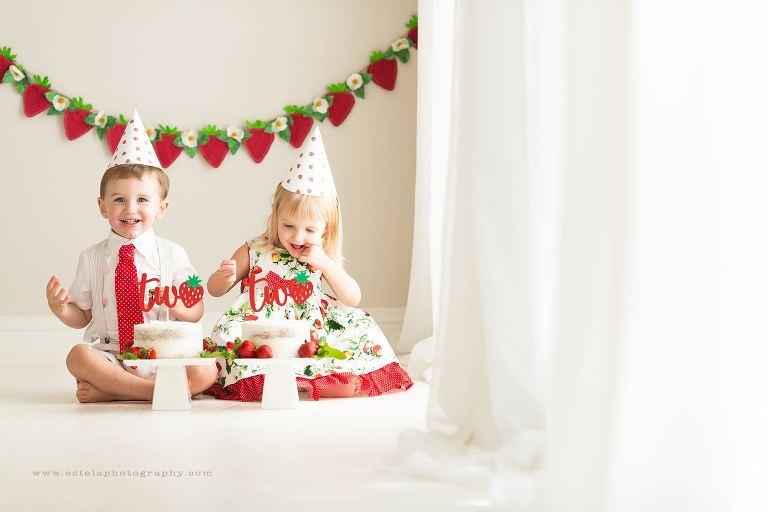 Twin Babies Cake Smash in Houston