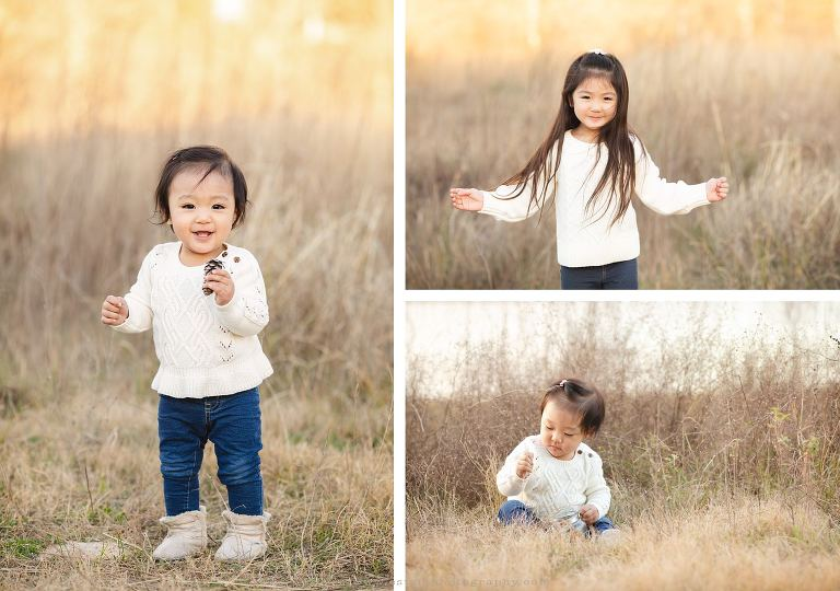 Child Photographer in Houston Holiday Outdoor Session