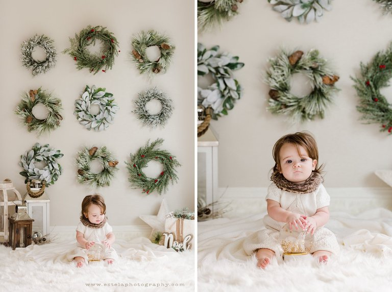 Delicate White Holiday Baby Mini Sessions
